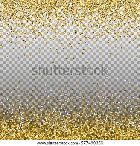 Gold Glitter Background Golden Sparkles On Stock Vector 530120791 - Shutterstock