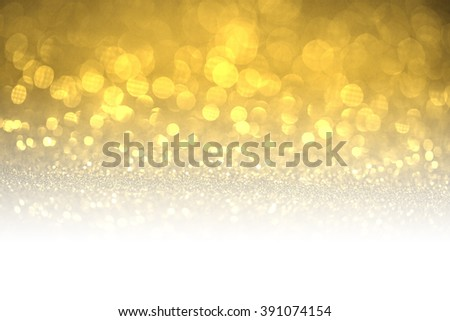 Gold glitter surface with gold light booked with white copyspace- It can be used for background for special occasions promotion campaign or product display - stock photo
