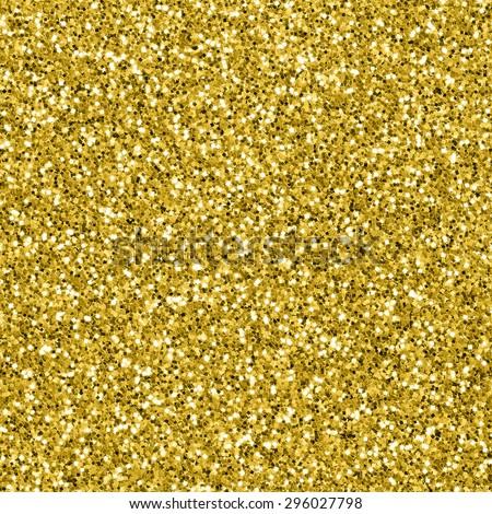 Gold glitter texture - stock photo