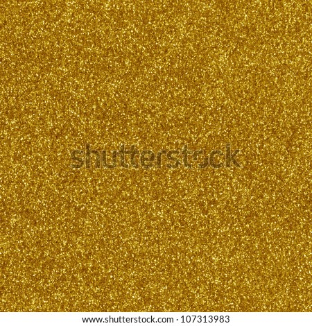 Gold glitter texture macro close up background.
