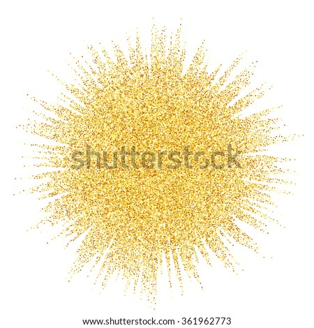 Gold glitter wave abstract background, golden sparkles on white background, vip design template