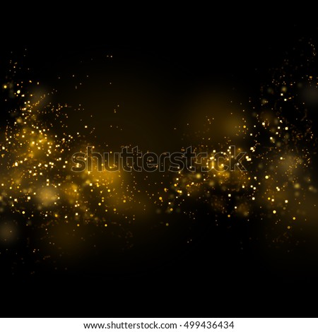 Gold glittering star magic dust on background.Particles for your product.