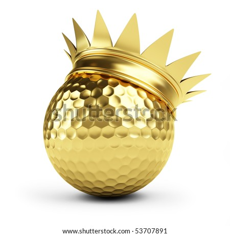 gold golf ball crown