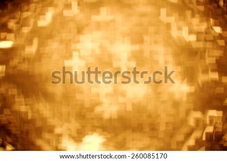 gold greek cross bokeh background - stock photo