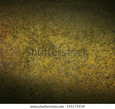 gold grunge background. concrete wall texture - stock photo