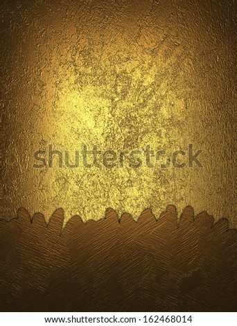 Gold grunge background with yellow accents. Design template - stock photo