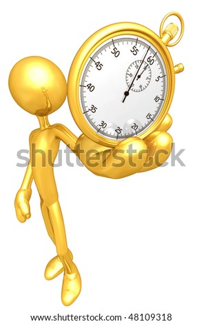 Gold Guy With Gold Stopwatch