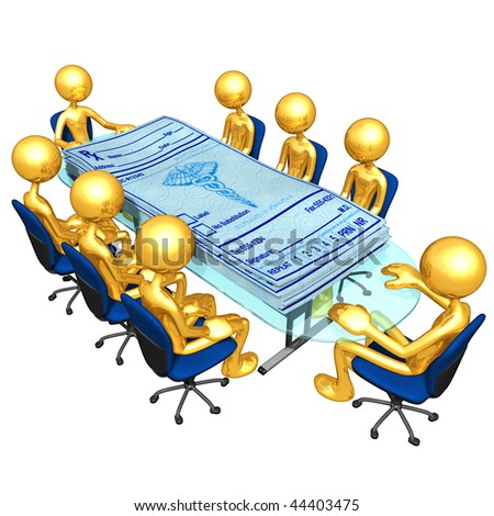 Gold Guys Medical Prescriptions Meeting - stock photo