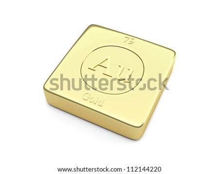Gold ingot element symbol periodic table stock illustration gold ingot element symbol in the periodic table urtaz Gallery