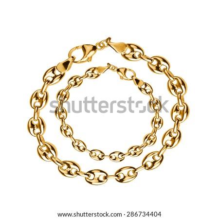 gold jewelry - stock photo