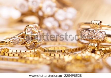 Gold jewelry for elegant women.