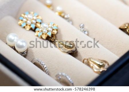 Gold jewelry in jewelry boxes & Jewelry Box Stock Images Royalty-Free Images u0026 Vectors | Shutterstock Aboutintivar.Com