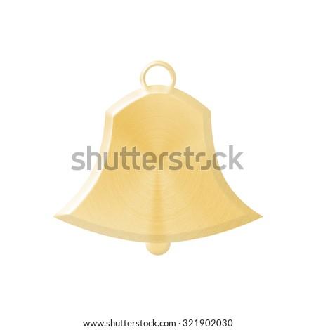 gold Jingle bell - stock photo