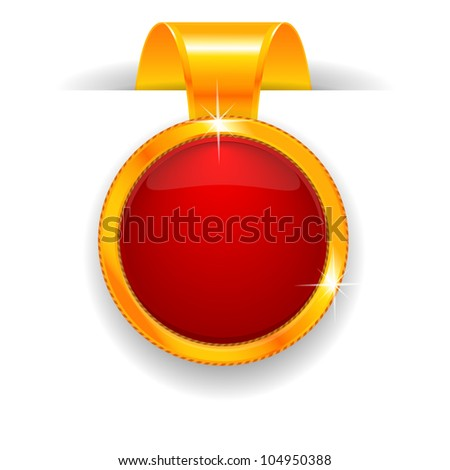 Gold label - stock photo