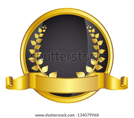 gold laurel wreath. jpg version - stock photo