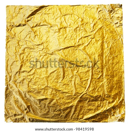 gold leaf on a white background - stock photo