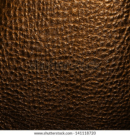 Gold leather texture - stock photo