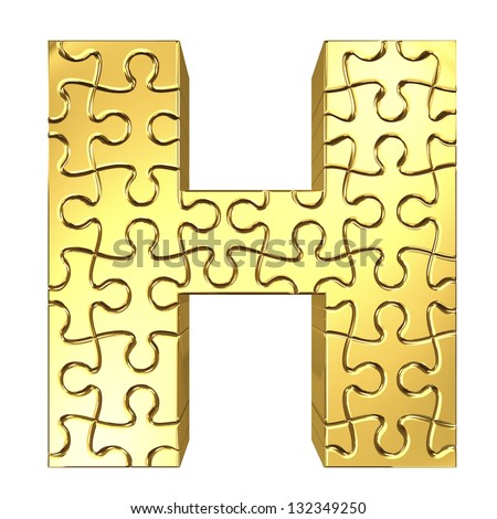 gold letter made prom puzzle pieces