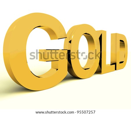 Gold Letters As Symbol For Success Or Riches