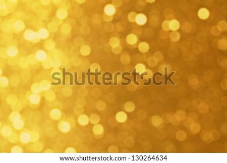 Gold light background - stock photo