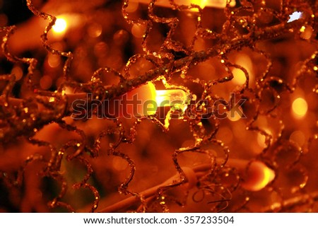 Gold light bubbles background