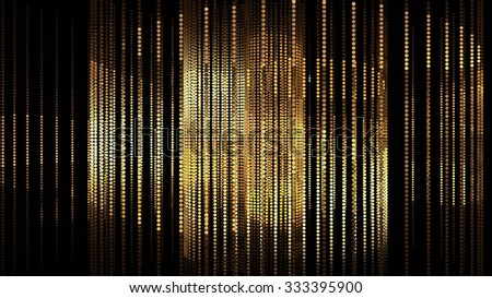 Gold Lines Background - stock photo