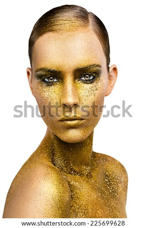 Gold make-up