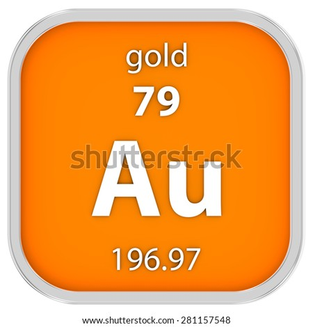 Gold material on the periodic table. Part of a series.