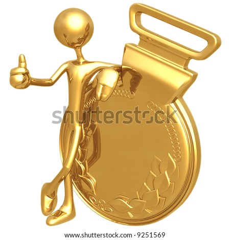 Gold Medal Approval - stock photo