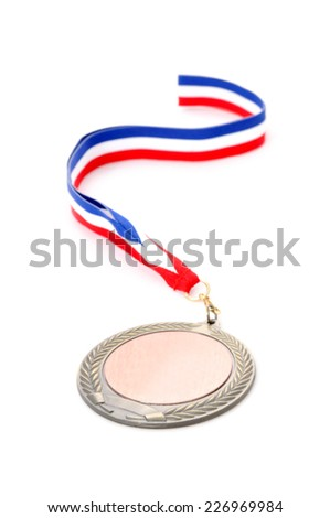 Gold Medal Award on the white background. Isolated on white