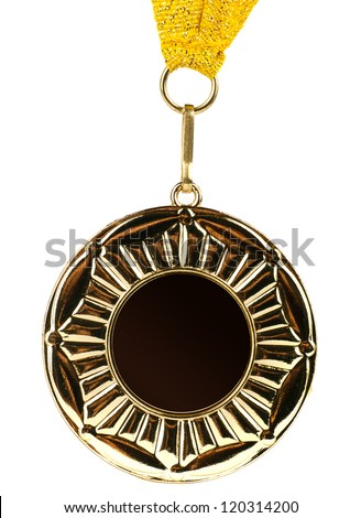 Gold medal isolated - stock photo