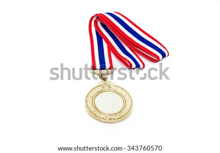 Gold Medal Isolated