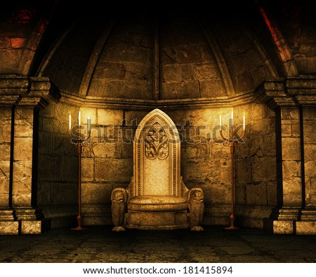 Gold Medieval Image - stock photo
