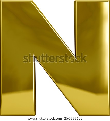 n letter in gold on quotesfab gold n stock images royalty free images amp vectors 889