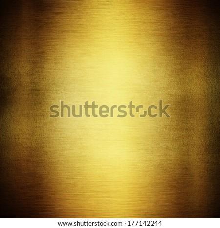 Gold Metal Texture - stock photo