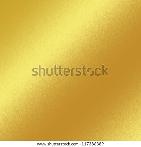 gold metal texture background with oblique line of light to decorative greeting card design