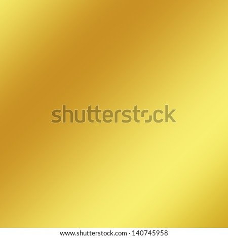 gold metal texture background with oblique line of light to decorative greeting card design - stock photo