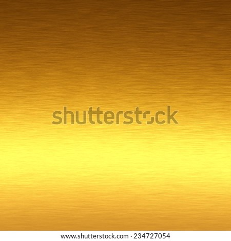 gold metal texture bright background with horizontal line of light to decorative greeting card design - stock photo