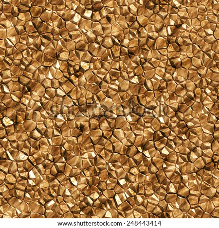 Gold mineral - close up illustration - stock photo