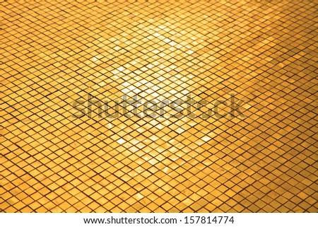 gold mosaic  - stock photo