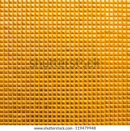 gold mosaic tiles texture - stock photo