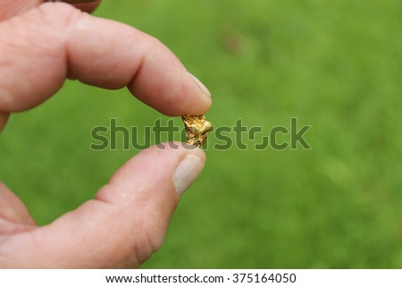 Gold Nugget mining from the River in Austria, real Gold.
