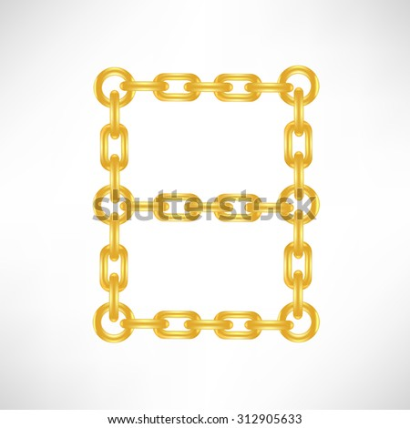 Gold Number 8 Isolated on White Background