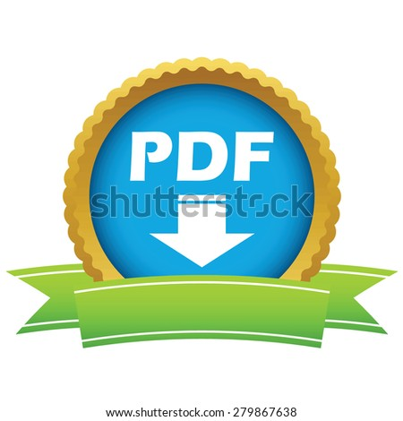 Gold pdf download logo on a white background