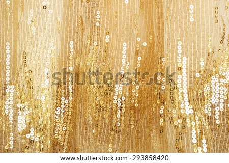 Gold peach lace background - stock photo