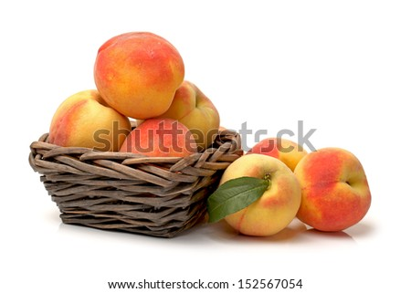 Gold Peach on a white background