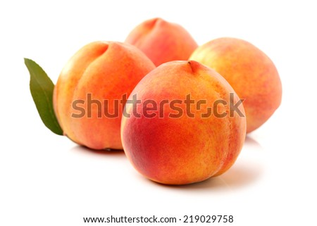 Gold Peach on a white background - stock photo