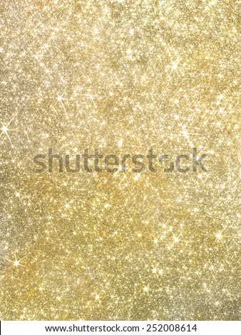 Gold pearl sequins, shiny glitter background/I shine in a lozenge - stock photo