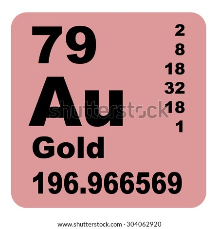 Gold periodic table elements stock illustration 304062920 shutterstock gold periodic table of elements urtaz