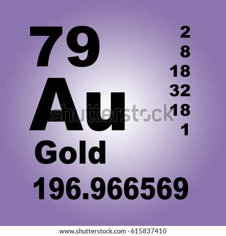 Gold periodic table elements stock illustration 615837410 shutterstock gold periodic table of elements urtaz Image collections